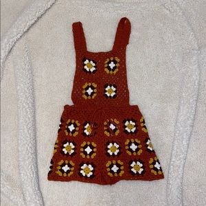 Cute Knitted Overalls